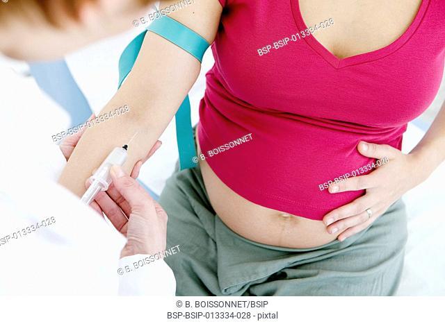 BLOOD SPECIMEN, PREGNANT WOMAN