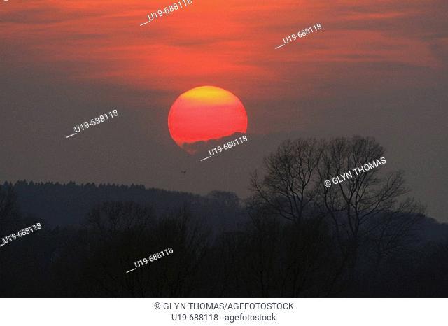 Sunset, Oxfordshire, England