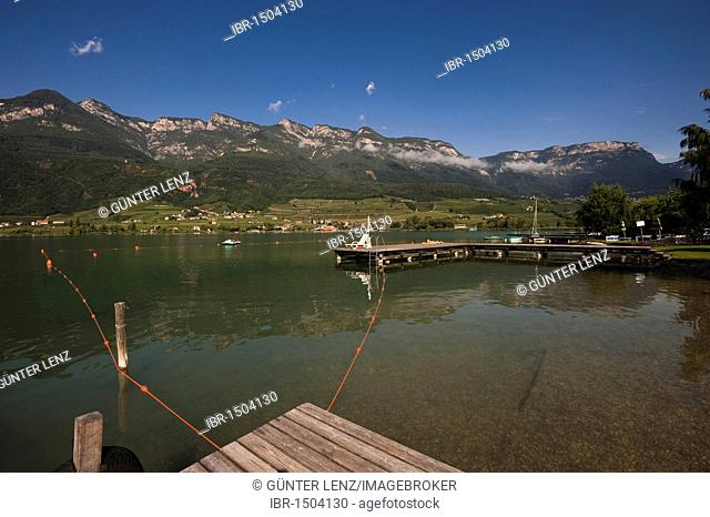 Lago di Caldaro lake, South Tyrol, Italy, Europe