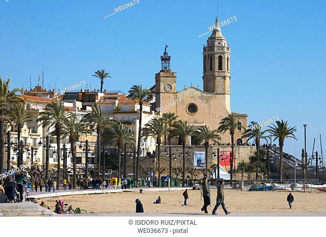 Sitges. Garraf. Barcelona Province. Catalonia. Spain