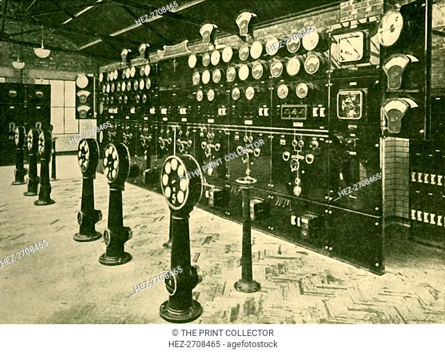 'Section of Switchboard in Power House, Metropolitan Railway', 1930. Creator: Unknown