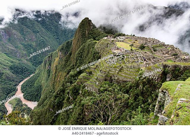 Archaeological site of Machu Picchu and the Huayna Picchu, Cusco, Peru