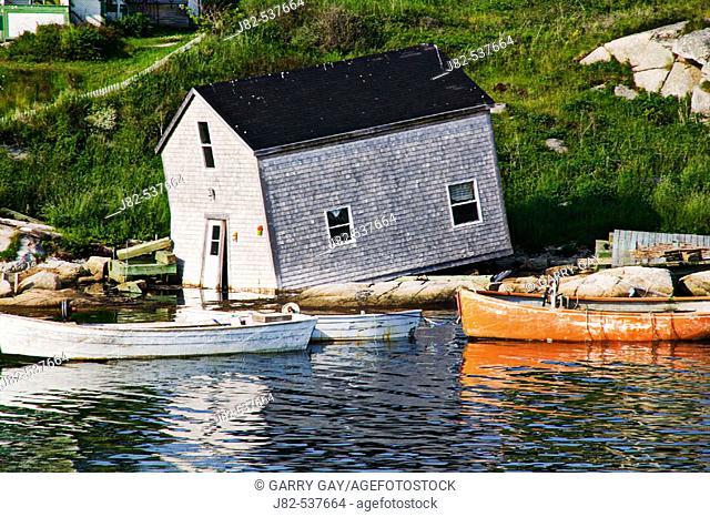 Old crumbling boat house, Peggy's Cove; Nova Scotia; Canada