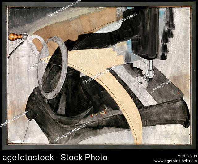 Hand Sewing Machine. Artist: Arthur Dove (American, Canandaigua, New York 1880-1946 Huntington, New York); Date: 1927; Medium: Oil, cut and pasted linen, resin