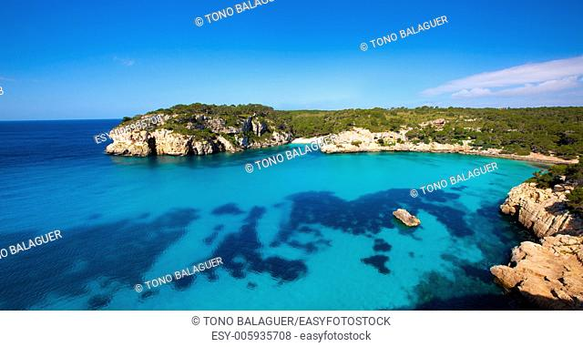 Cala Macarella and Macarelleta Ciutadella in Menorca Mediterranean Balearic islands