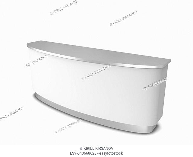 Blank counter. 3d illustration isolated on white background