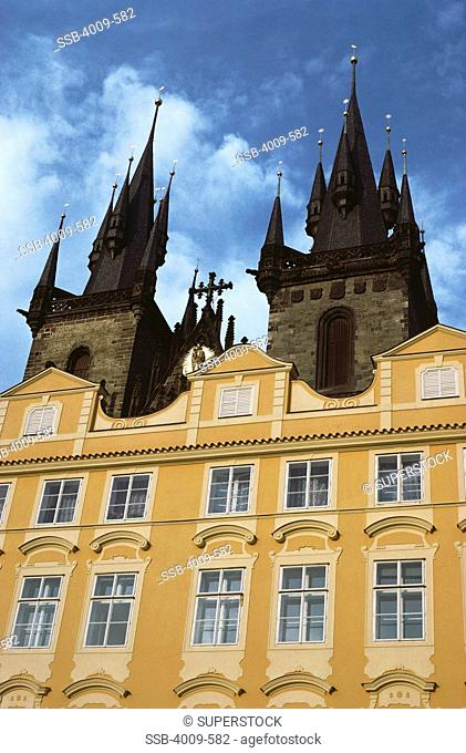 Low angle view of a church, Church Of Our Lady Before Tyn, Prague, Czech Republic
