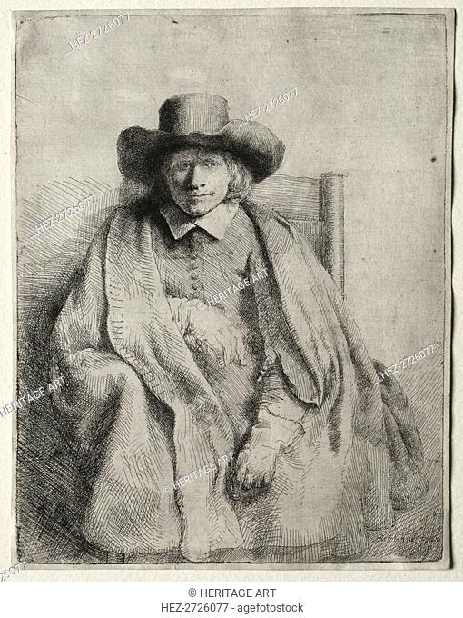 Clement de Jonghe, Printseller, 1651. Creator: Rembrandt van Rijn (Dutch, 1606-1669)