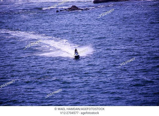 jet ski at Public beach, Alexandria, Egypt
