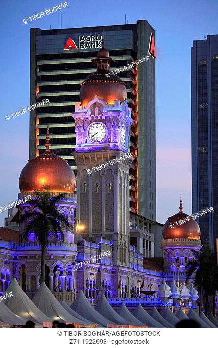 Malaysia, Kuala Lumpur, Merdeka Square, Sultan Abdul Samad Building