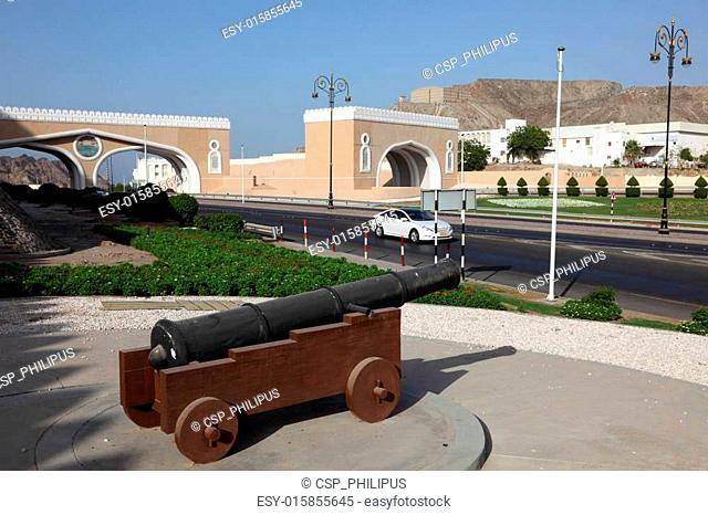 Cannon at the Gate to Muttrah, Muscat, Sultanate of Oman