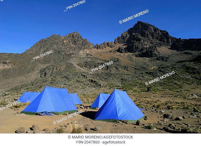 Tent Camp Mawenzi Kilimanjaro NP Tanzania
