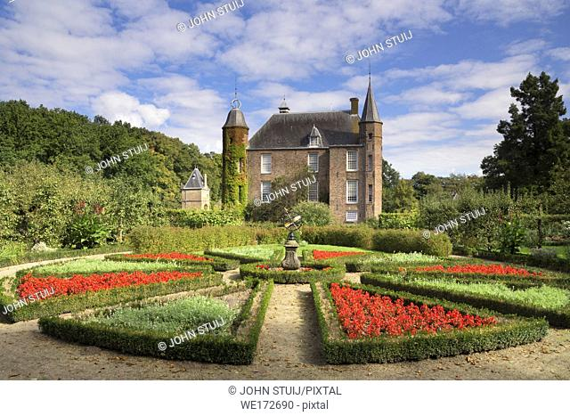 Zuylen Castle with its decorative garden is a Dutch castle at the village of Oud-Zuilen just north of the city of Utrecht