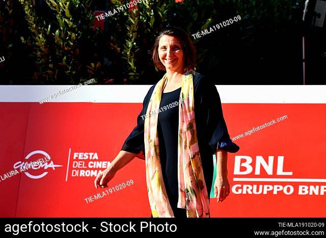 Simonetta Cartia during the red carpet of film 'La legge del terremoto' at the 15th Rome Film Festival, Rome, ITALY-19-10-2020