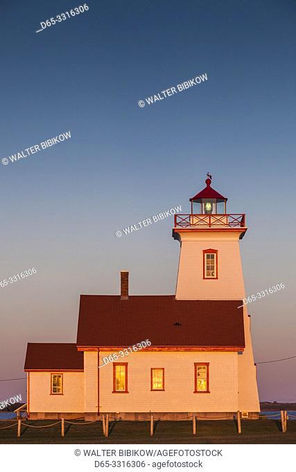 Canada, Prince Edward Island, Wood Islands, Wood Islands Lighthouse, sunset