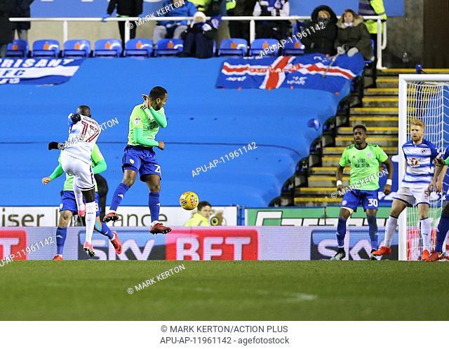 2017 EFL Championship Reading v Cardiff City Dec 11th. 11th December 2017, Madejski Stadium, Reading, England; EFL Championship football
