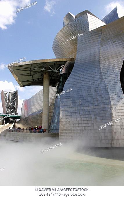 Guggenheim Museum, Contemporary Art, center of Bilbao, Biscaye, Spain