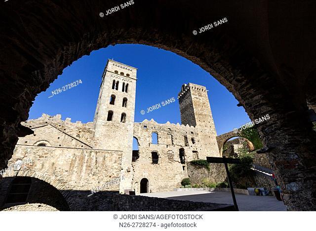 Sant Pere de Rodes monastery. Romanesque. El Port de la Selva
