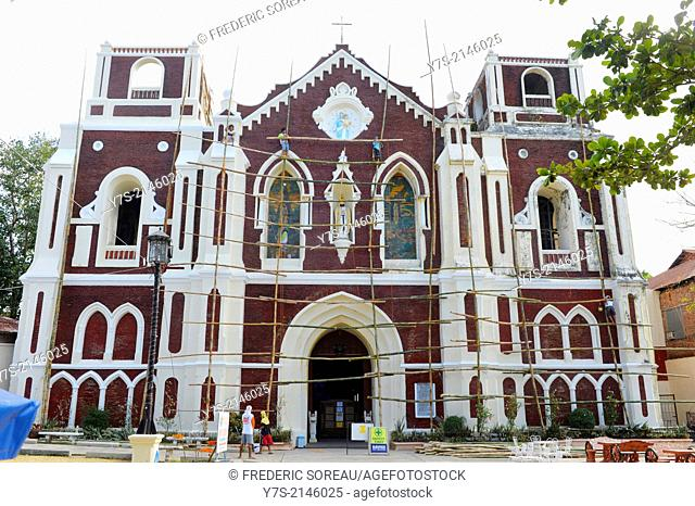 The Church of Saint Augustine Parish in the city of Vigan in the province of Ilocos Sur ,Luzon island Philippines,South East Asia
