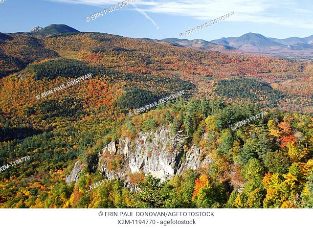 Autumn foliage from the Boulder Loop Trail  This trail is located along the Kancamagus Highway route 112, which is one of New England's scenic byways in the...