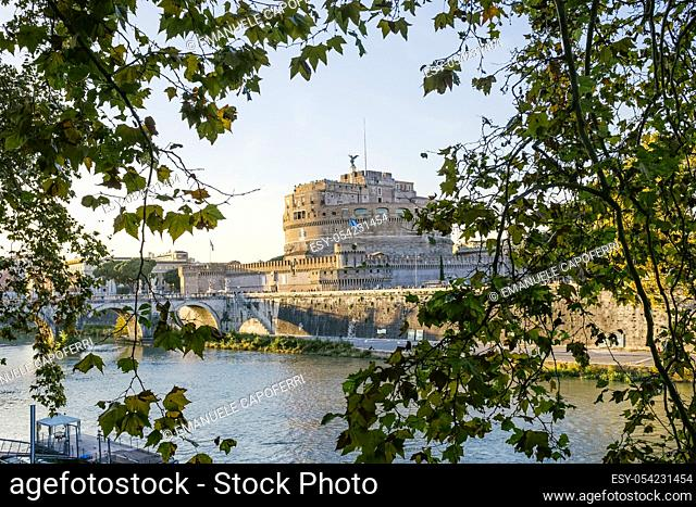 Along the Tiber and Castel Sant'Angelo, Rome, Italy
