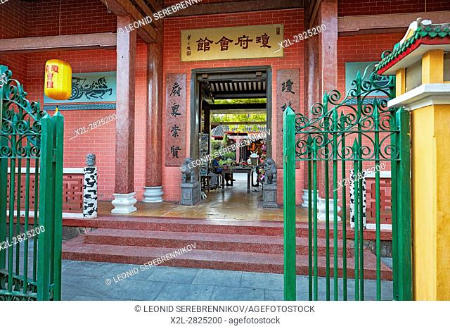 Entrance Gate to the Hainan Assembly Hall. Hoi An Ancient Town, Quang Nam Province, Vietnam