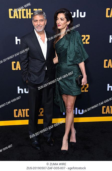 May 7, 2019 - Hollywood, California, U.S. - George Clooney and Amal Clooney arrives forHulu's 'Catch-22' U.S. Premiere at the Chinese Theatre