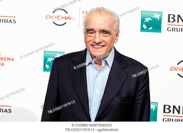 Martin Scorsese during 'The Irishman' film photocall at 14th Rome Film Fest, Rome, Italy 21/10/2019