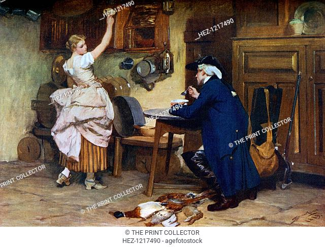 'Flirtation', 1885, (1912). A colour print from Famous Paintings with an introduction by Gilbert Chesterton, (Cassell and Company, London, New York, Toronto