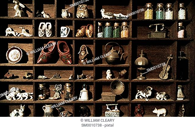 A collection of curiosities and souvenirs