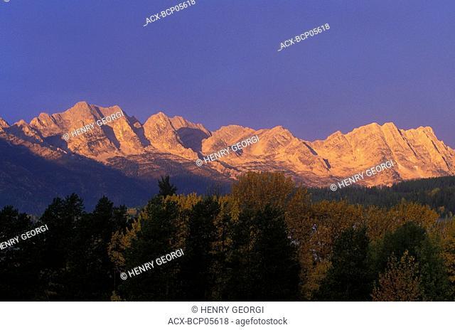 Lizard Range at sunrise, Fernie, British Columbia, Canada