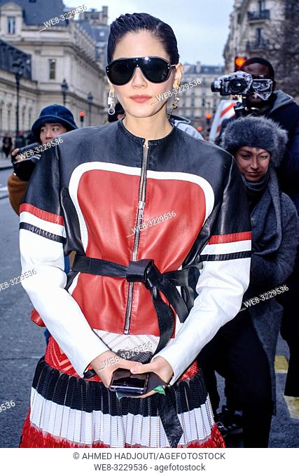 PARIS, FRANCE - January 23 : Araya Hargate attends the Jean Paul Gaultier Haute Couture Spring Summer 2019 show as part of Paris Fashion Week on January 23