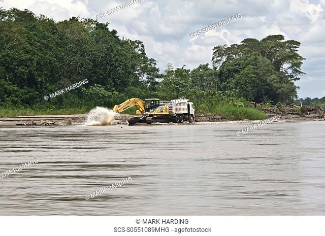 Oil exploration, Cuyabeno, Ecuador