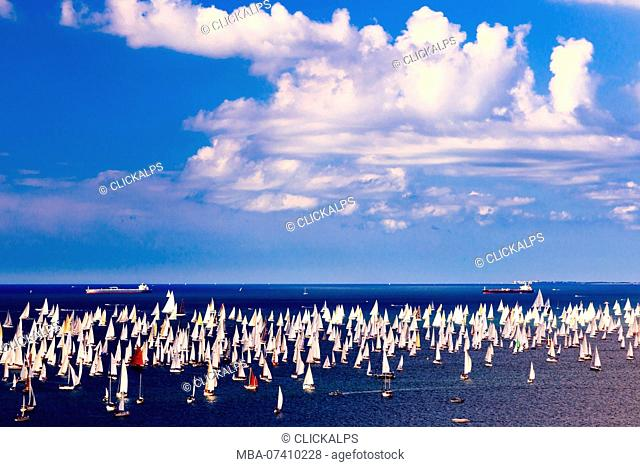 The Barcolana regatta in the gulf of Trieste, Friuli Venezia-Giulia, Italy