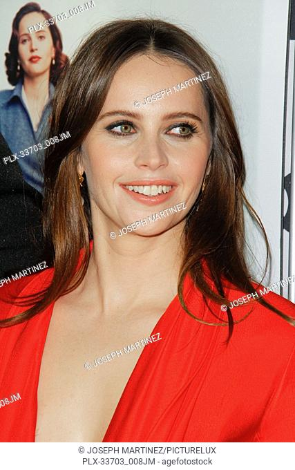 """Felicity Jones at the AFI Fest 2018 Opening Night World Premiere Gala Screening of """"""""On The Basis Of Sex"""""""" held at the TCL Chinese Theatre in Hollywood, CA"""