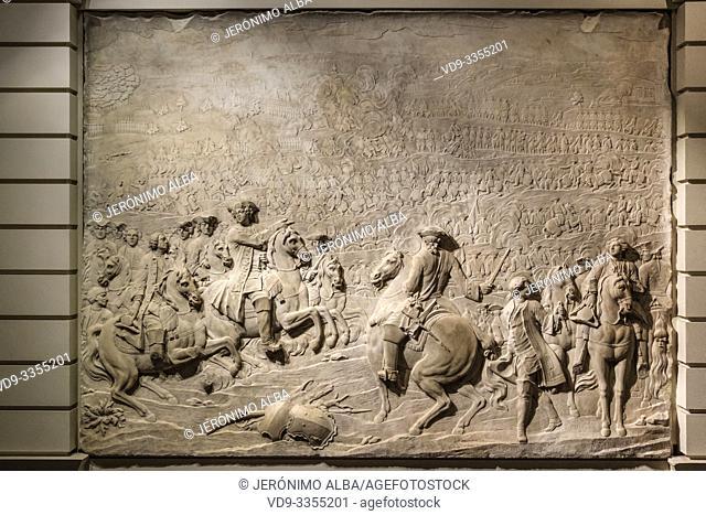 The Battle of Fontenoy. Musée d'Aquitaine, Aquitaine museum. Bordeaux, Gironde. Aquitaine region. France Europe