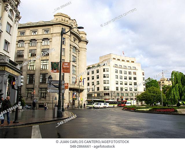 Plaza Moyua en Bilbao. Vizcaya. Pais Vasco. España. Europa