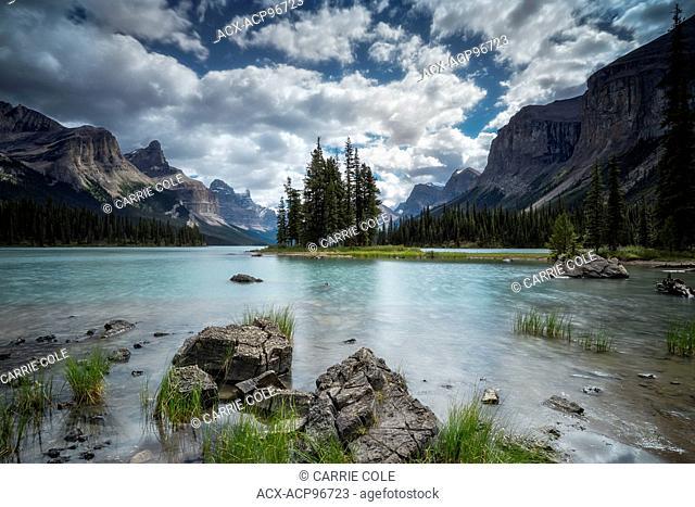 Spirit Island, Jasper National Park, Canadian Rockies, Maligne Lake, near Jasper, Alberta, Canada