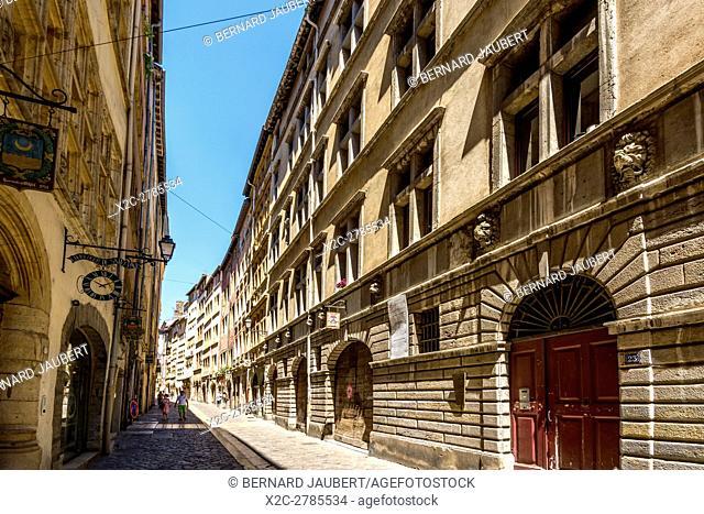 Lyon 5e arr. Juiverie street. Saint Jean quarter. Lyon. Rhone. France. Europe