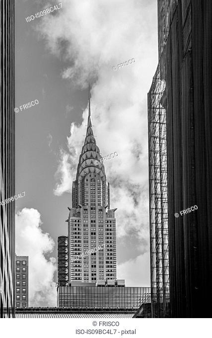 View of Chrysler Building, B&W, New York, USA