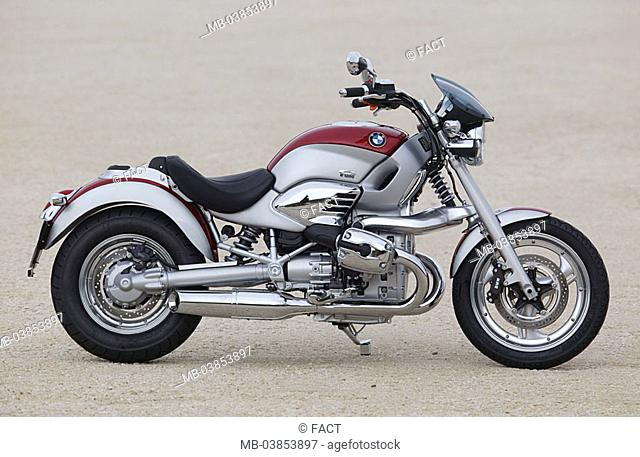 Motorcycle, BMW R 1200 side-opinion no property release vehicle bicycle, motorcycle, tour-motorcycle, brand, trademarks, motorcycle-brand, signs, emblem, design