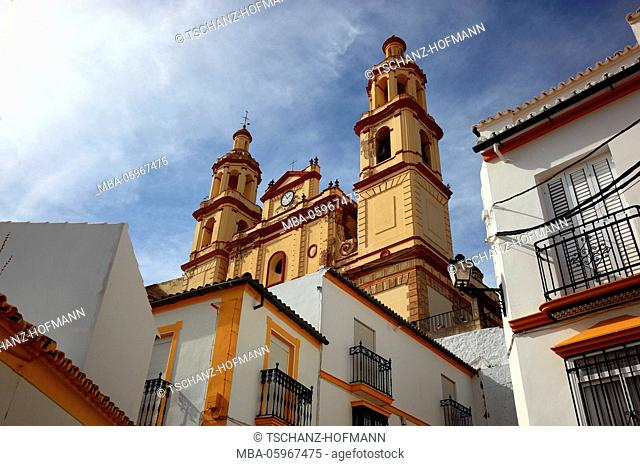 Spain, Andalusia, municipality of Olvera in the province of Cadiz, on the Ruta de los Pueblos Blancos, street of the white towns