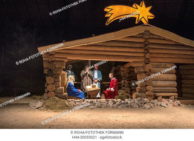 Bad Reichenhall, Bayern, Oberbayern, Berchtesgadener Land, Weihnachten, Weihnacht, Christkind, Jesukind, Krippe, Kripperl, Kultur, Brauch, Brauchtum, Bräuche