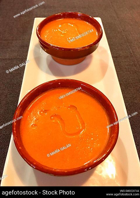 Gazpacho servings. Spain