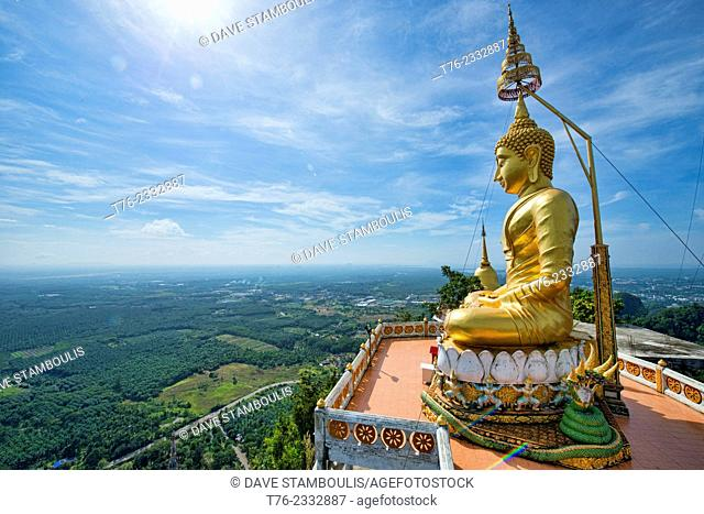 The view from the top of Wat Tham Sua Tiger Cave Temple in Krabi, Thailand