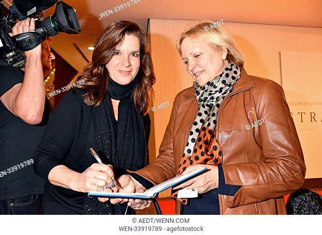 Katarina Witt at the book premiere Strafe by Ferdinand von Schirach at Kammermusiksaal Philharmonie. Berlin, Germany - 12.03