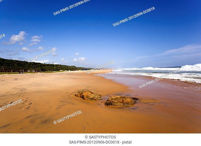 Rocks on the beach, Kovalam, Kerala, India