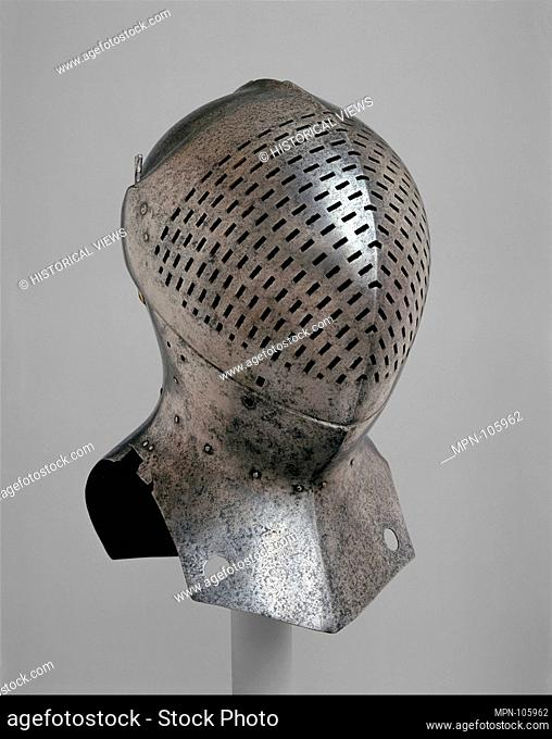 Foot-Combat Helm of Sir Giles Capel (1485-1556). Date: ca. 1510; Culture: possibly British; Medium: Steel; Dimensions: H. 17 1/2 in. (44.4 cm); W