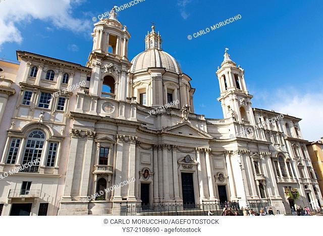 Saint Agnese in Agone church, Piazza Navona, Rome, Lazio, Italy, Europe