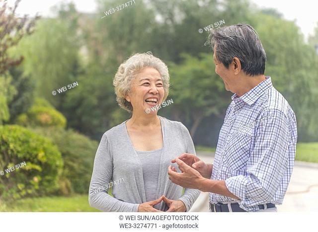 Elderly couple outdoors